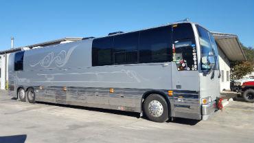 Diesel tour bus